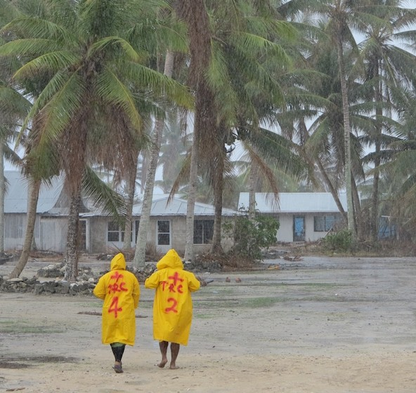 Tuvalu after Tropical Cyclone Pam, March 2015.